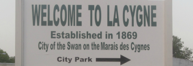 Welcome Sign La Cygne