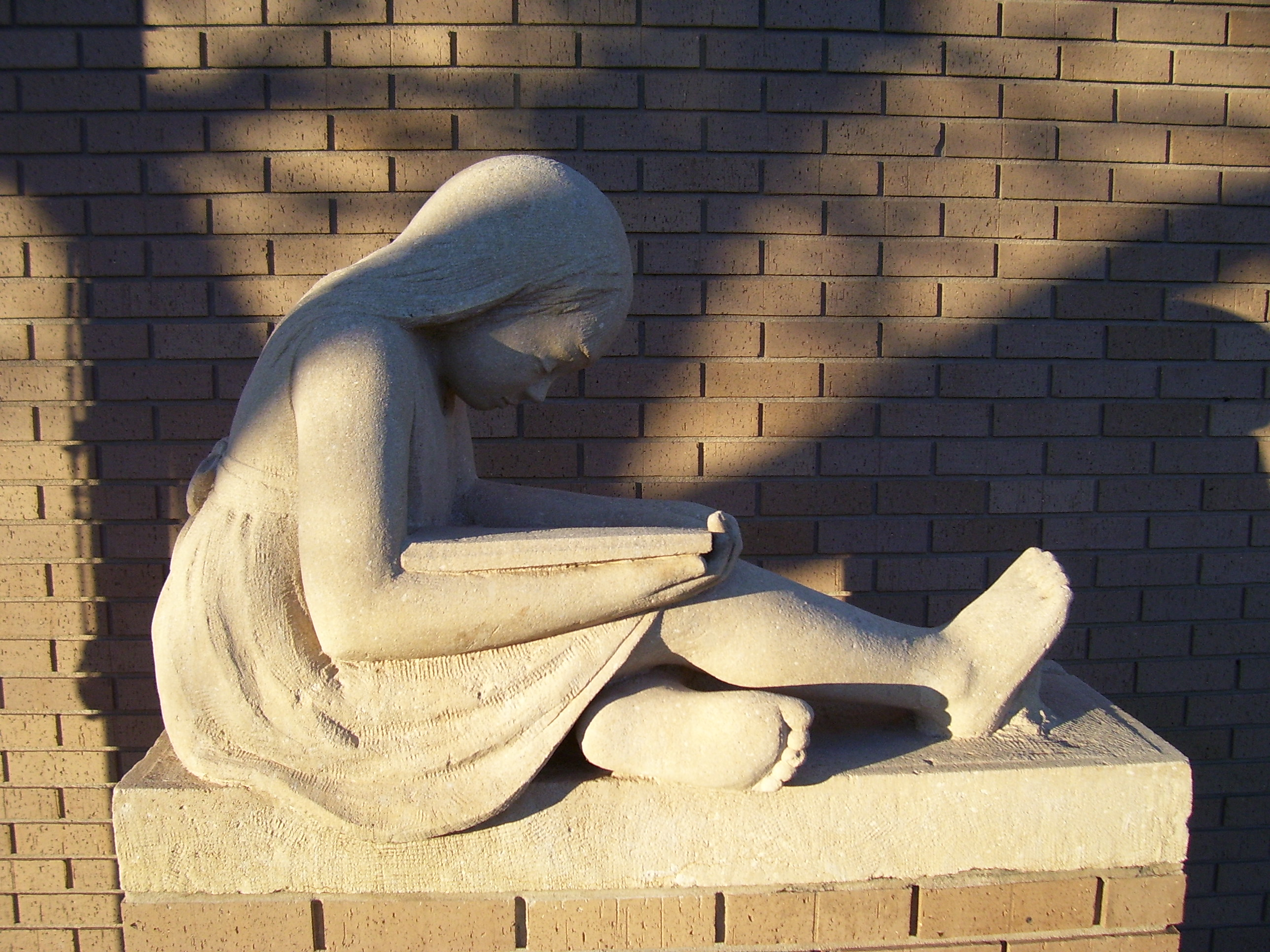 Plainville Library sculpture