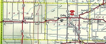 Proposed Interstate 70 route through Northwest Kansas