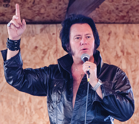 Elvis impersonator at Family Fun Day